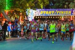 Running starts in mini-marathon race Stock Photo