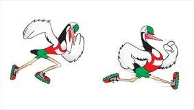 Running stork. Carton vector illustration of running stork vector illustration