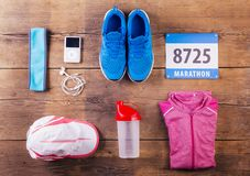 Running stuff on the floor Royalty Free Stock Photo