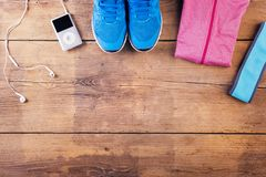 Running stuff on the floor Stock Photography