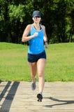 Running in summer royalty free stock photos