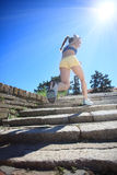 Running on sunny day Royalty Free Stock Photography