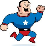 running superhero Arkivfoton