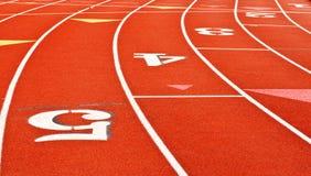 running syntetiskt spår Royaltyfri Fotografi
