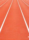 running syntetiskt spår Fotografering för Bildbyråer