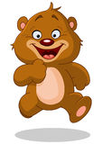 Running teddy bear. Happy teddy bear running fast royalty free illustration
