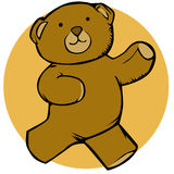Running teddy bear Royalty Free Stock Photos