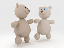 Running teddy bears Royalty Free Stock Image