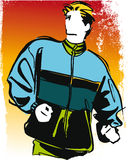 Running teenager illustration Stock Image