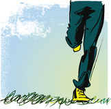 Running teenager illustration Royalty Free Stock Images