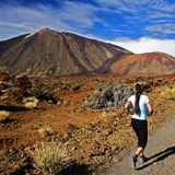 Running on Tenerife Royalty Free Stock Image