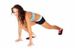 Running thin girl. Stock Photo