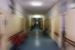 Running thru hallway. Running thru hospital hallway -speeding zoom Stock Photo