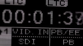 Running timecode on the pro HD VCR. Frontal view Shot on Canon 5D Mark II with Prime L Lenses stock footage