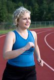 Running To Lose Weight Royalty Free Stock Photos