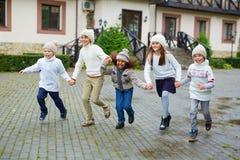 Running to school Royalty Free Stock Photos