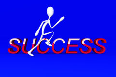 Running to Success Royalty Free Stock Images