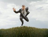 Running to Success Stock Photo