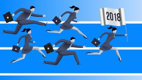 Running to year 2018 business concept Royalty Free Stock Photography