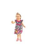 Running toddler girl stock photo