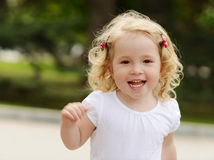 Running toddler girl Stock Photography