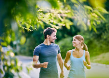 Running together Royalty Free Stock Photography