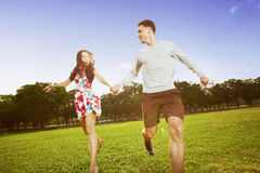 Running together a Stock Photo