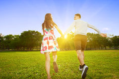 Running together Royalty Free Stock Photos