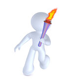 Running with the torch Royalty Free Stock Image