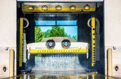Running Touchless Carwash Stock Photo