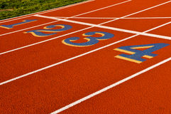 Running Track 1 2 3 4 Royalty Free Stock Photo