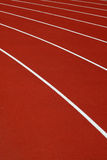 Running track. Athletics running track Royalty Free Stock Images
