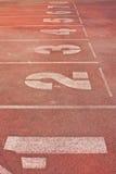 Running Track. In Chiang Mai Sport Stadium Royalty Free Stock Image
