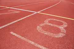 Running track. For race, for concept or background royalty free stock photos