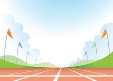 Running track. Illustration of empty running track Stock Images