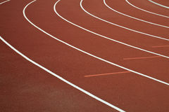 Running Track. A curve of an all season running track Royalty Free Stock Photo