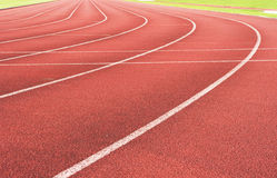 Running track. For race, for concept or background stock photography