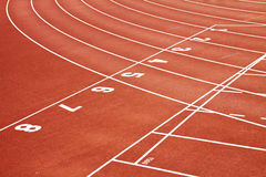 Running Track. A red sport running track Royalty Free Stock Photography