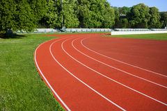 Running Track. Lanes for athletes royalty free stock photos