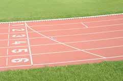 Running track. Athletic sports field Royalty Free Stock Image