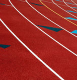 Running Track 2. Another view of running track Royalty Free Stock Photos