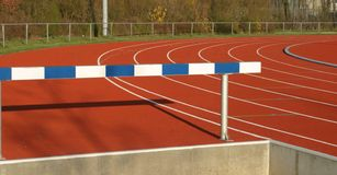 Running track. Panorama view Stock Photo