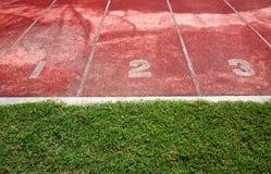 Running Track. In the stadium Stock Photo