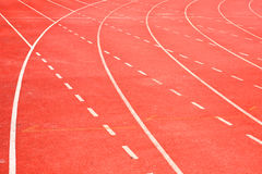 Running Track. In the stadium Stock Photography