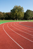 Running track. Lines on a sunny day Stock Photography