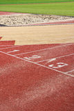 Running track. Lines with starting numbers Royalty Free Stock Photography