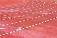 Running Track. Curve of a Running Track stock images