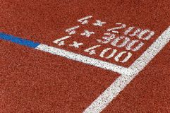 Running track. Marks on the surface of a running track Stock Images