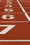 Running track. Marks on the surface of a running track Royalty Free Stock Photo