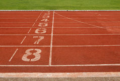 Running Track. For race 1-8 . for concept or background stock photo
